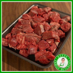 Buy a £10 tray of Diced Beef online from Reeds Family Butchers