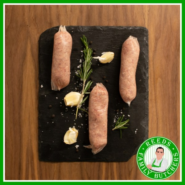 Buy Pork, Sage & Onion Sausages - 8 Pack online from Reeds Family Butchers