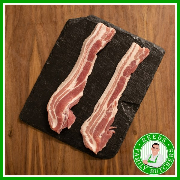 Buy Unsmoked Rindless Streaky Bacon - 8 Rashers online from Reeds Family Butchers