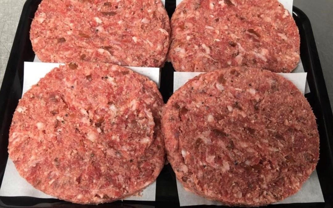 Homemade 100% Rump Steak Burgers