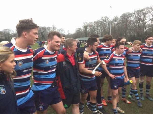 Reeds Weybridge RFC Winning Team 24-03-18