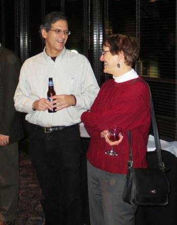 Professors Finke and Koenker talking at the Reception