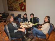 Students listening to the Balkanalia Ensemble