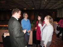 PhD candidate Devon Lechtenberg (Geography), Katrina Kotowski (REEEC Office Support Associate), PhD candidate Stephanie Chung (Slavic Languages and Literatures), MA student Urszula Biegaj (GSLIS)
