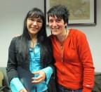 Marina Filipovic and Jasmina Savic, both graduate students in Slavic Languages and Literatures