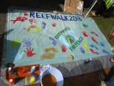 Footprints for peace banner