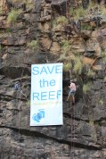 Reef Walk 2013 FoE Banner 12 May 2013 c-o Tony Robertson 6