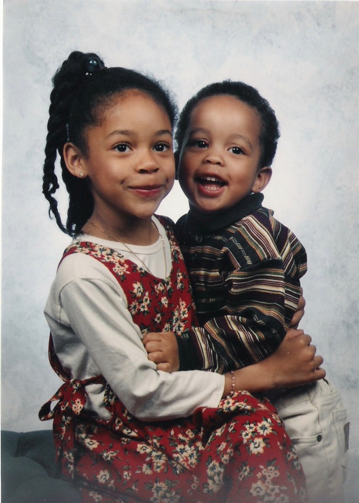 Tamara with her brother Daniel