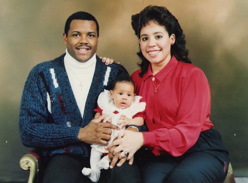 Photo of Tamara as a baby with her parents