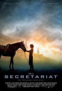 Image shows theatrical poster for the horse movie Secretariat.