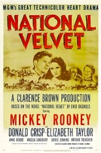 Image shows theatrical poster of the horse movie National Velvet