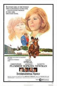 Image shows theatrical poster of the horse movie International Velvet