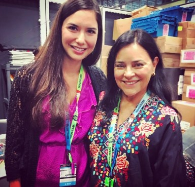Image shows Sera-Lys (left) with Diana Gabaldon (right) at NY Comic Con 2019