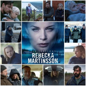 Image shows photo montage of scenes from Rebecka Martinsson: Arctic Murders. The central photo is the theatrical poster for the show.