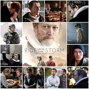 Image shows photo montage of scenes from Ride Upon the Storm. Central photo is the theatrical poster for the show.