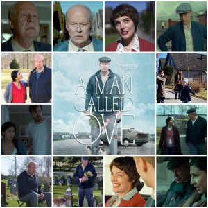 Montage shows scenes from A Man Called Ove. The centre image is a theatrical poster for the film.