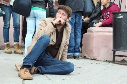 Merlin (Konstantin Khabenskiy) sits on the floor in a scene from The Method