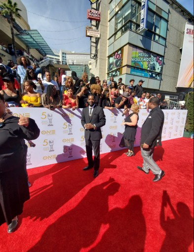 Derek Roberts on the red carpet at the NAACP Awards