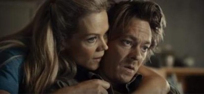 Ane Dahl Torp (left) as Idun and Kristoffer Joner (right) as Kristian in The Wave