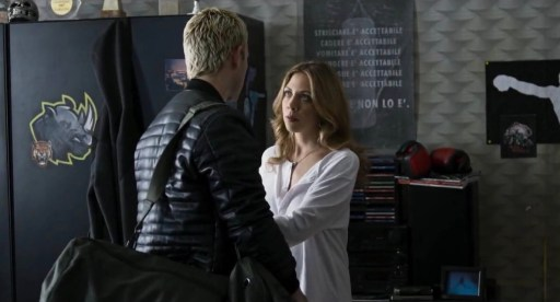 Aureliano (Alessandro Borghi) and Livia (Barbara Chichiarelli) in a scene from season 1 of Suburra: Blood on Rome
