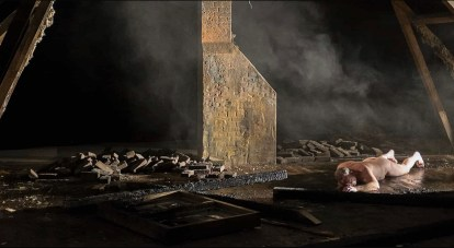 Scene from Paretns showing the interior of the apartment once deconstructed.