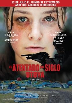 Spanish language theatrical poster for Utoya - July 22