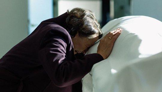 Karen-Lise Mynster as Elisabeth Hoffmann in a scene from Whe the Dust Settles