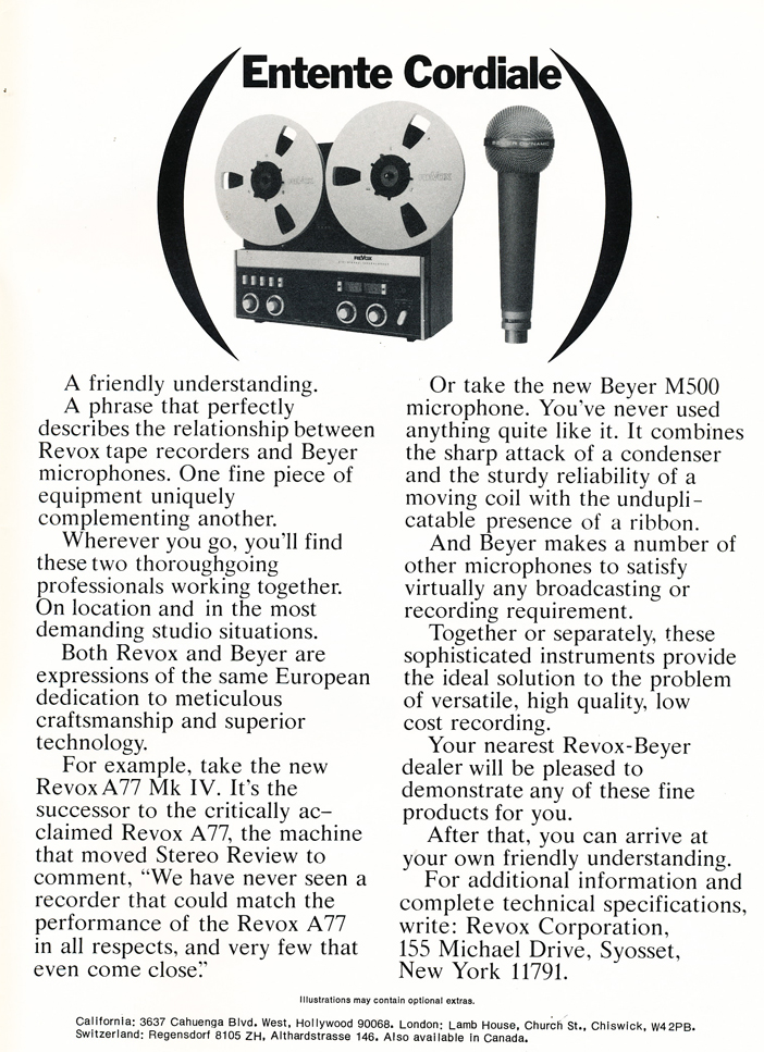 Phantom Productions reel to reel tape recorder 1908 ad