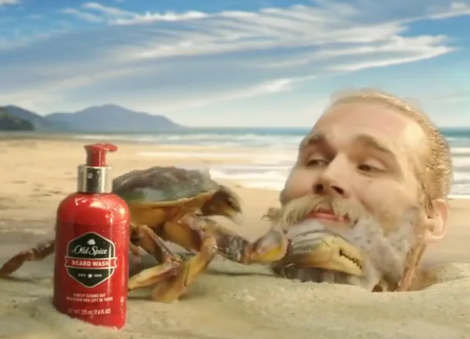 Weird rhymes with beard so it must be Old Spice