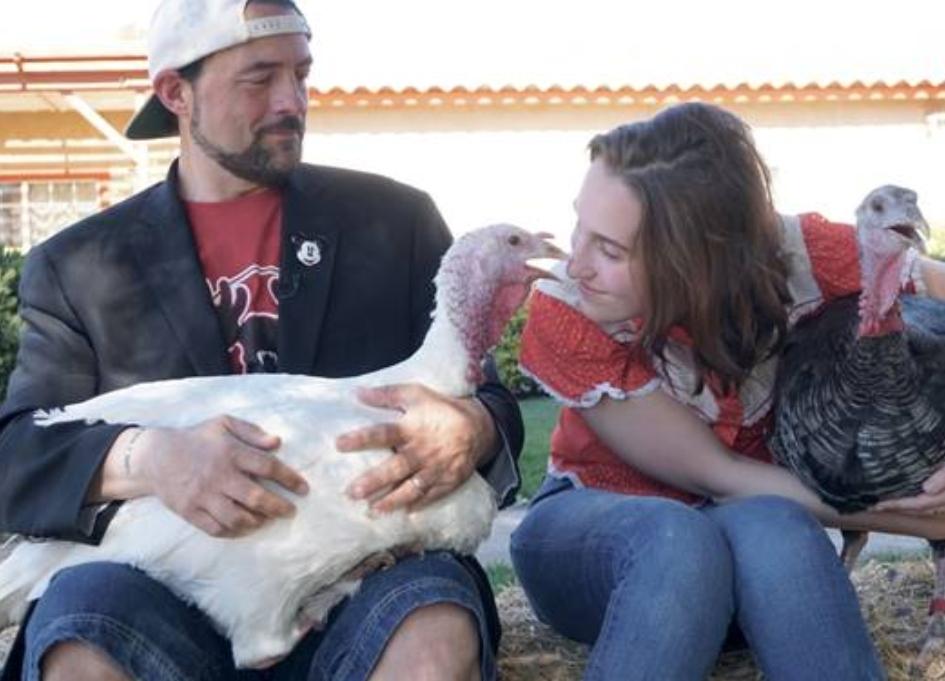 Kevin Smith talks turkey for farm sanctuary
