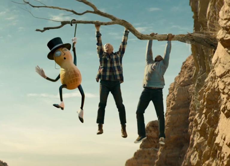 Mr. Peanut meets fiery death saving Wesley Snipes
