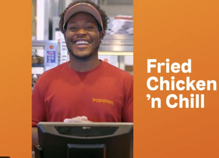 Popeyes wants you to eat fried chicken and chill w/Netflix