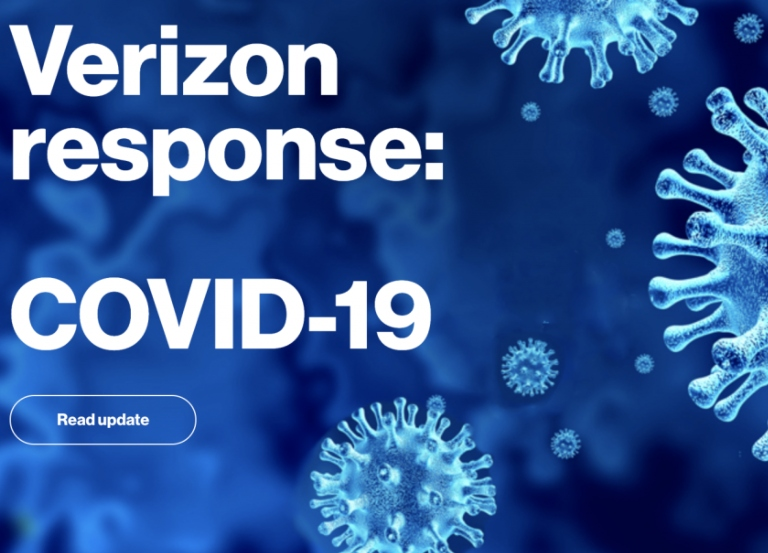 Verizon reassures public with COVID-19 messaging