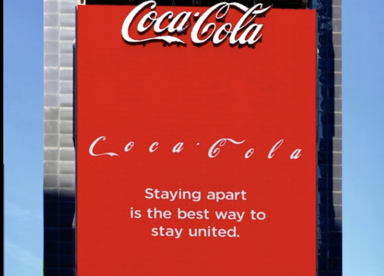 Coca-Cola and McCann react to social distancing