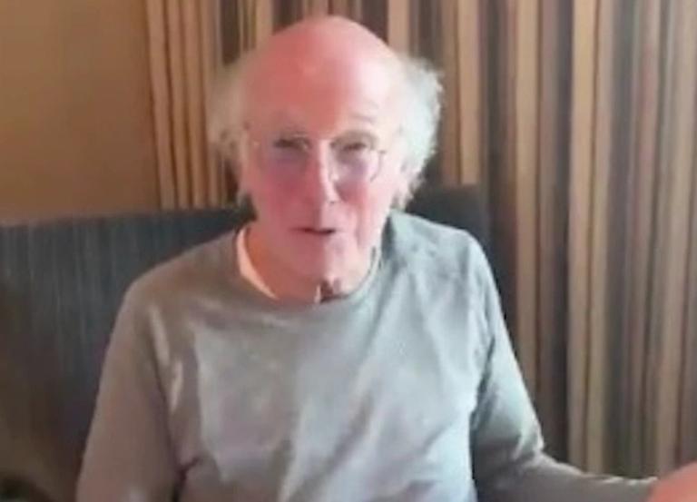 "'Curb' creator Larry David targets ""idiots"" in new PSA"