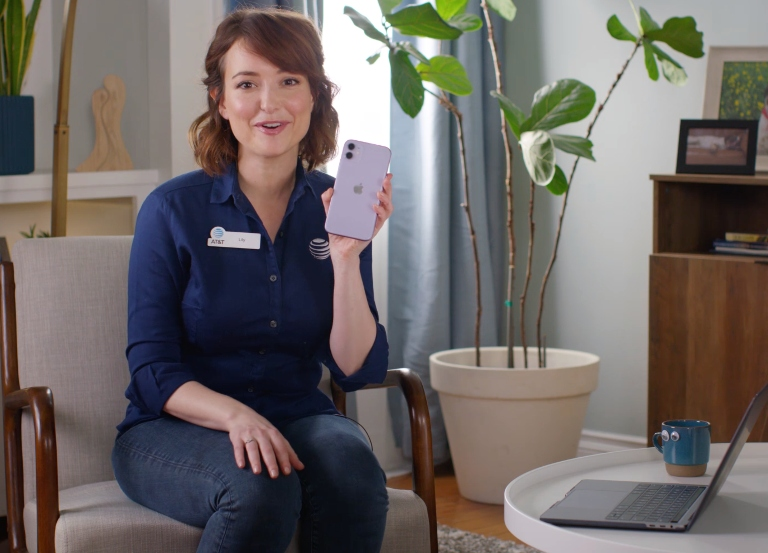 Lily's back… at home in two new AT&T spots