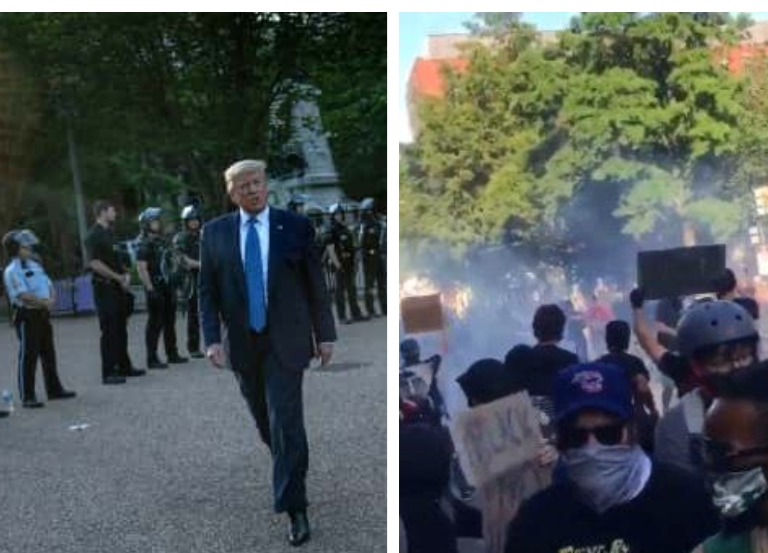 President turns Bible Trumper after tear -gassing