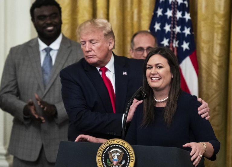 "Trump asked Sarah Sanders to ""Take one for the team"""