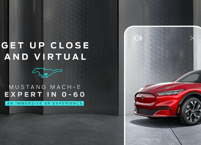 Ford launches AR experience  for all-electric Mustang