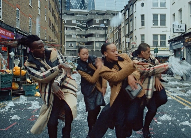 Smiles reign in Burberry's Singin' in the Hail spot