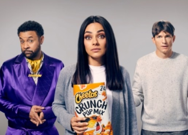 Kunis, Kutcher star in Cheetos Super Bowl TVC