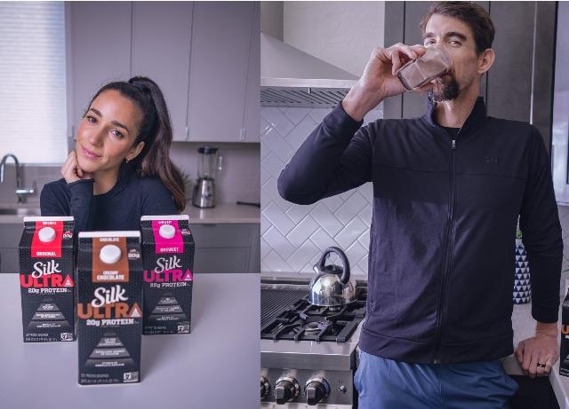 New Silk Ultra campaign features Phelps, Raisman