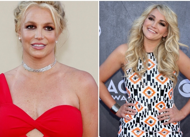 Jamie Lynn Spears stands with older sister Britney