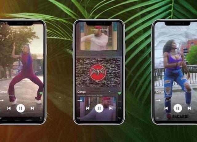 BACARDĺ: Hacks Spotify's Canvas Function for Conga