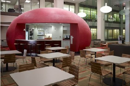Abelson Taylor's in-house atrium cafe at 33 W. Monroe (photo: CharterSills)