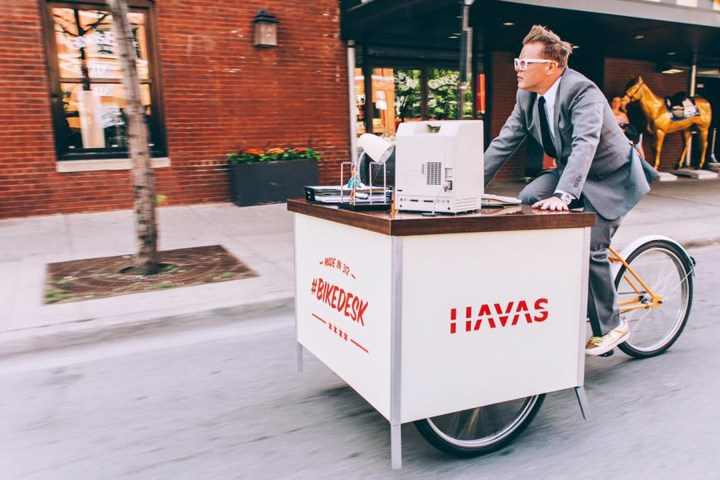 Havas creative's Bikedesk inspires biking to work