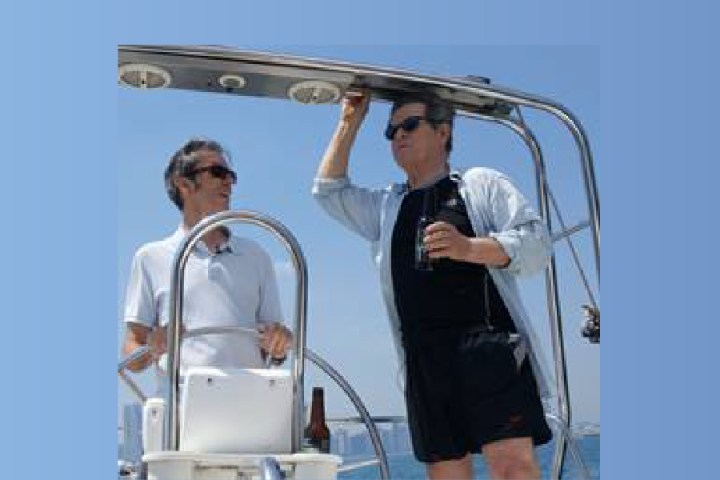 Clinger helms sailboat in perfect summer web series
