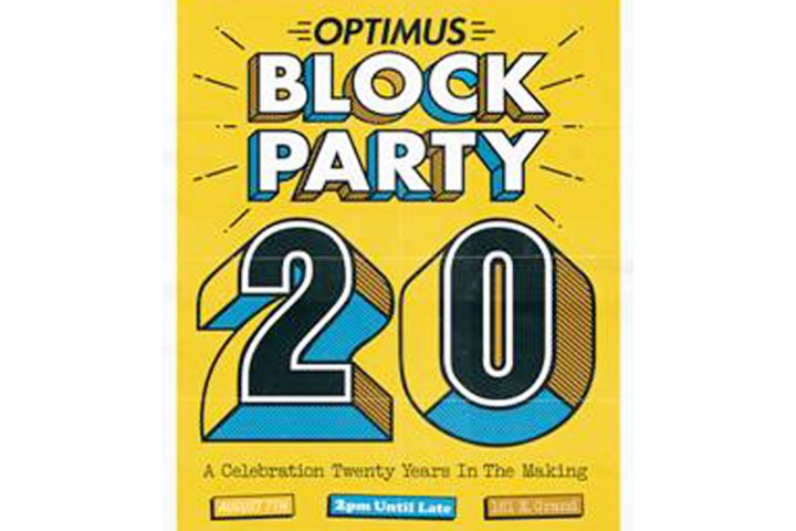 Optimus hosts 20th and last Block Party Friday
