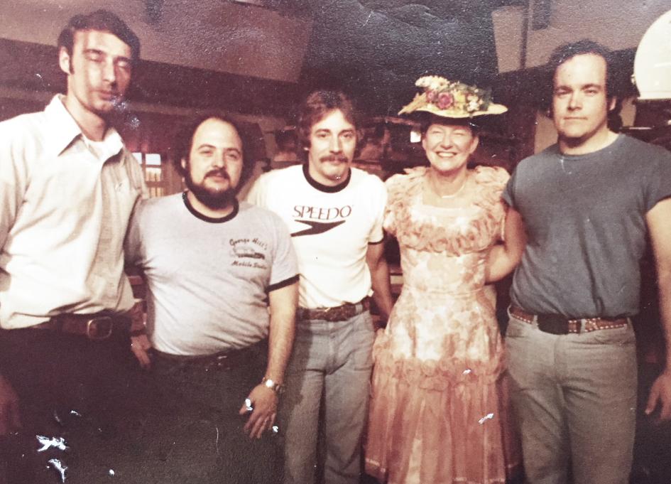 John Swander, Bob Volpe, ,Jules Tomko , Minnie Pearl, and Mark Hogan