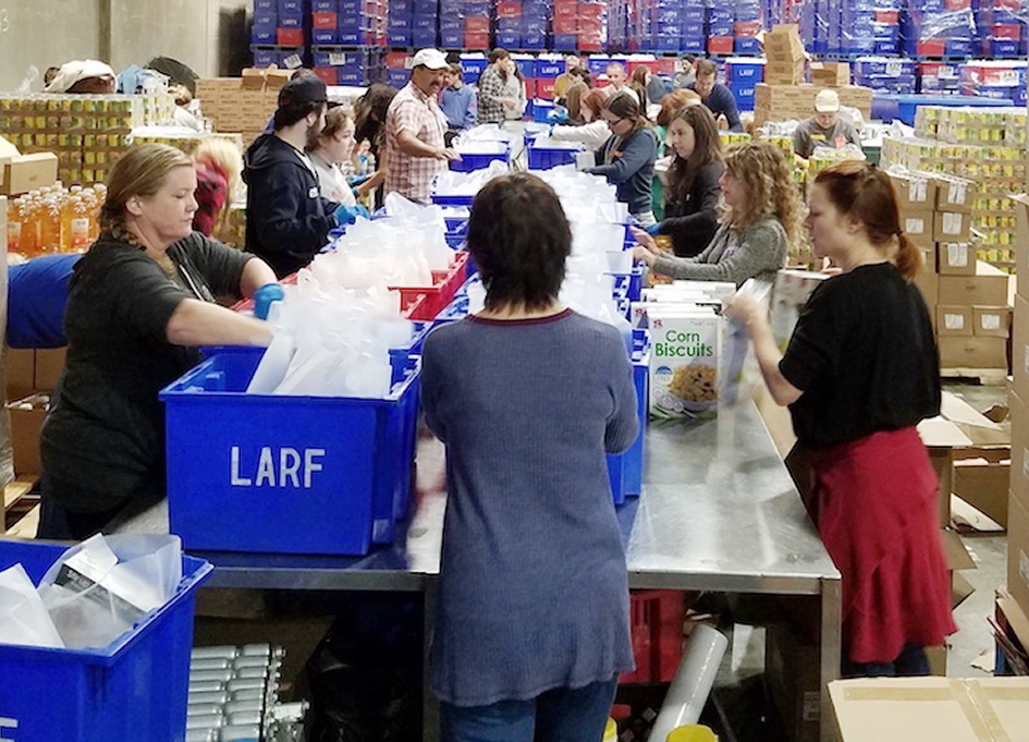 Traveling Picture Show helping the community by way of LA's Regional Food Bank.